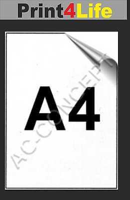 100 Blatt Etiketten Aufkleber DIN A4 selbstklebendes Papier 210 x 297mm weiß