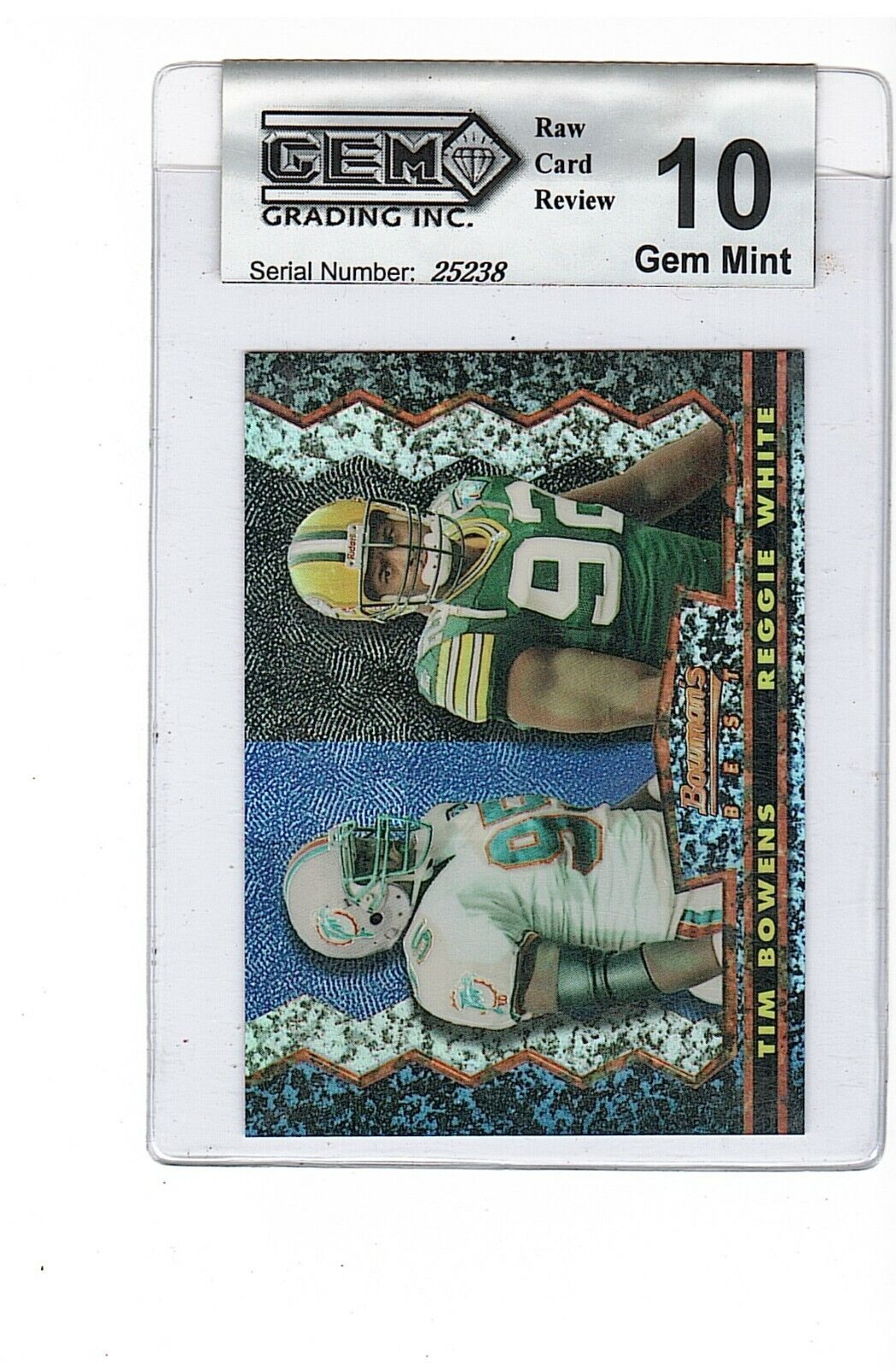 REGGIE WHITE 1995 BOWMANS BEST REFRACTOR CARD 21 GEM 10 GEM MINT EAGLES PACKERS - $7.99