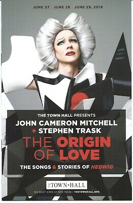 THE ORIGIN OF LOVE Playbill JOHN CAMERON MITCHELL Hedwig and the Angry Inch - Origins Of Love