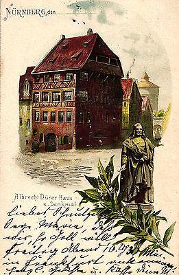 Nürnberg, Albrecht Dürer Haus u. Denkmal, 1899