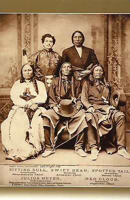 Sitting Bull Red Cloud Swift Bear etc., Native American Indian - Modern Postcard