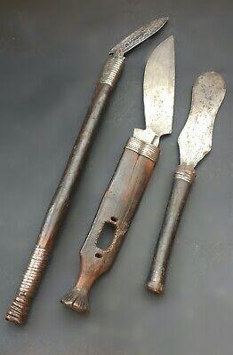 Mangbetu complex knifes, DR Congo, Africa , set de couteaux, Afrique.
