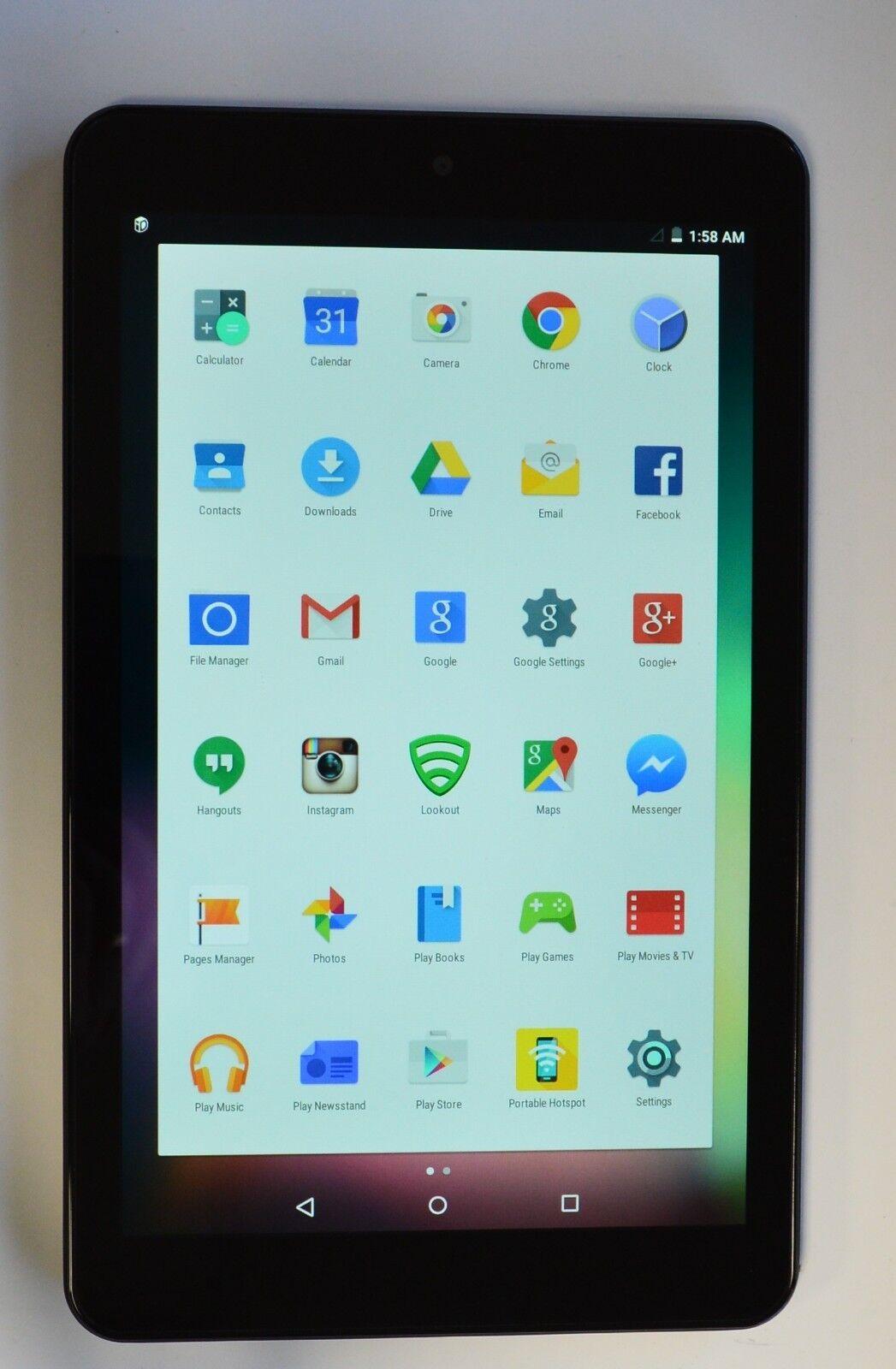 Sprint HP Slate 8 AQT80 16GB, Wi-Fi + 4G (Sprint), 8in - Black