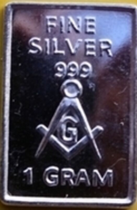 Mason Masonic Freemasonry Master Symbol Sterling Silver Bar Gift Card $ SLV 33