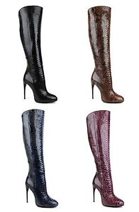 $3900 New Authentic Gucci Kim Python Knee Boot 334138