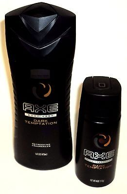 Mens AXE Body Wash & Daily Fragrance DARK TEMPTATIONS New