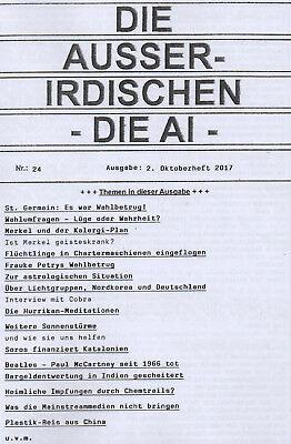 DIE AUSSERIDISCHEN - HEFT 24 - UFO Magazin von Eva Groenke - Wahlbetrug u.v.m.