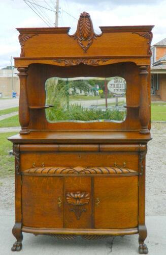 Victorian Oak Buffet Sideboard with Wine Drawer Cellaret