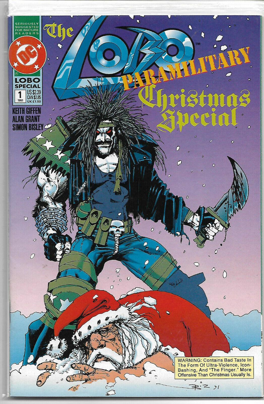 Lobo paramilitary Christmas special #1 NM explicit