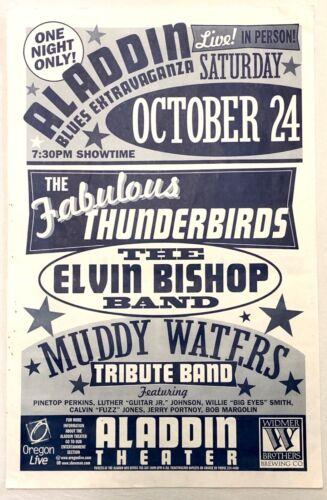 "1998 ""Aladdin Blues Extravaganza"" w/Muddy Waters Tribute Band Promo Poster"