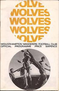 Football Programme - Wolves v Leicester City - Div 1 - 1967