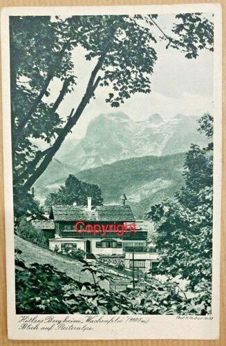 WW2 ADOLF HITLER  PHOTO CARD, BERGHOF HOUSE .BERCHTESGADEN ,1942 ORIGINAL.