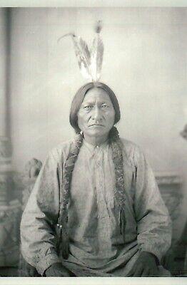 Sitting Bull Native American Lakota Indian Battle of the Little Bighorn Postcard