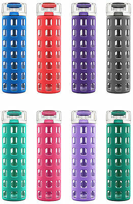 Glass Bottle With Lid (Ello Syndicate BPA-Free 20 oz Glass Water Bottle with Flip Lid, 8)