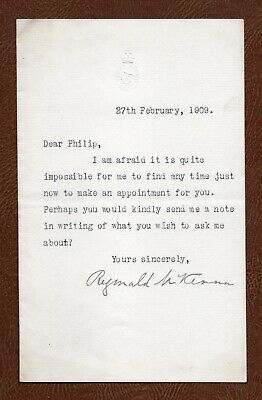 REGINALD McKENNA Lord of the Admiralty WW1 HOME SECRETARY 1909 TLS asking 'WHAT'