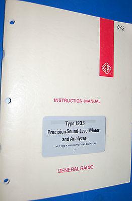 Gr Genrad 1933 Precision Sound-level Meter Analyzer A Instruction Manual
