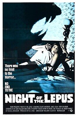 US SELLER, home decor ideas night of lepus  horror sci-fi movie poster
