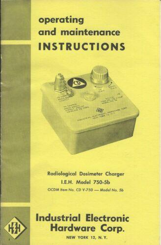 Operating Manual - IEH - CD V-750 5B - Radiation Dosimeter Charger (ST66)