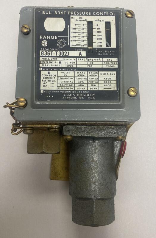 Allen-Bradley 836T-T302J Ser A Pressure Switch NOS