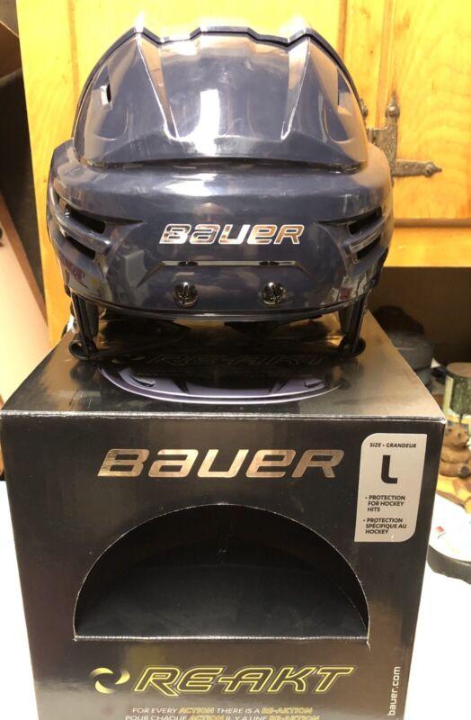 Bauer Re-Akt Helmet Navy Large New CCM Tacks 910 710 310