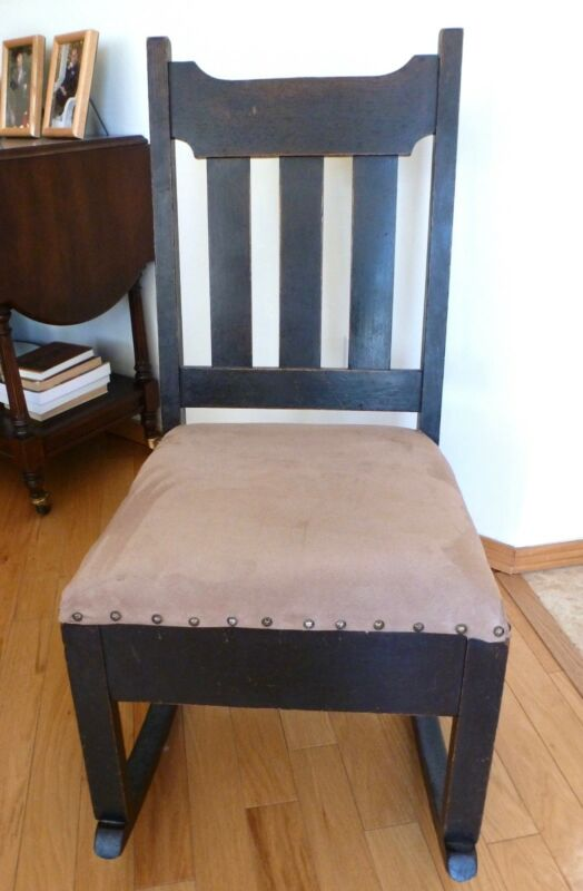 Rocking Chair with a Sewing Drawer, 1910, Craftsman style