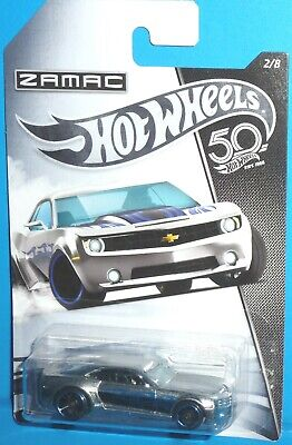 2018 HOT WHEELS Zamac Chevy Camaro Concept 2/8 Walmart NIP Flames