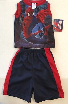 Toddler Baby Boys Spider-Man Swinging 2 Piece Outfit New 12 Month / 24 - Baby Super Man