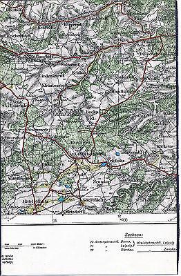 Münchenbernsdorf Mittelpöllnitz 1928 orig. Teilkarte/Ln. St-Gangloff Kraftsdorf