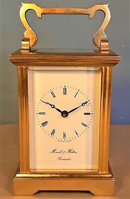 Vintage Brass Carriage Clock by Morrell & Hilton, Huntingdon, Working order
