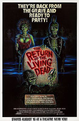 THE RETURN OF THE LIVING DEAD (1985) ORIGINAL MOVIE POSTER  -  ROLLED