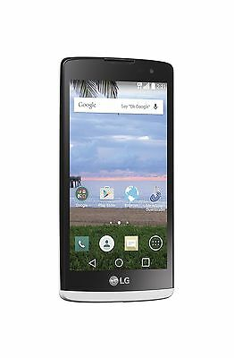 LG Sunset L33L White Android Prepaid Phone with Triple Minut
