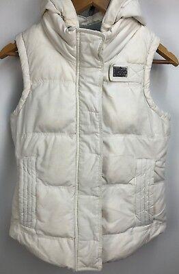 SuperDry University Gilet Bodywarmer Jacket Size Small White