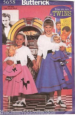 Butterick Child's Pattern for 50's Outfit sizes 4-14, and 18