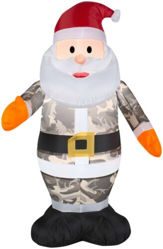 Christmas Airblown Inflatable 3.5 ft. H Camo Santa