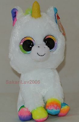 """New!  Ty Beanie Boos PIXY the Unicorn 6"""" size NWT's Gold Horn- Retired Version"""