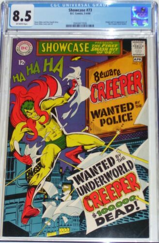 Showcase #73 CGC 8.5 (April 1968) 1st appearance of the Creeper (Jack Ryder)
