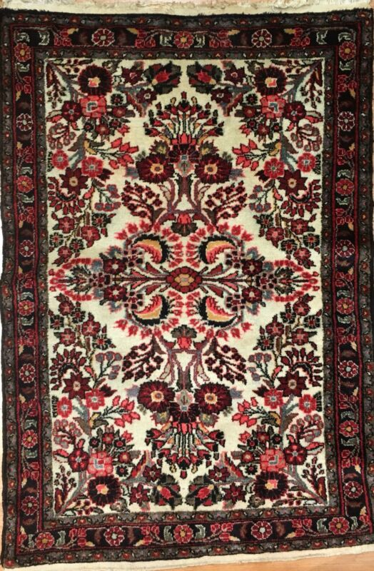 Fantastic Floral - 1920s Antique Oriental Rug - Handmade Carpet - 3.6 X 5.2 Ft.