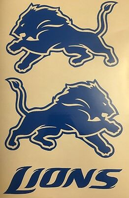 Detroit Lions Decal 1 Lh   1 Rh   Free Shipping