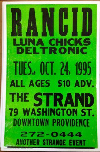 ORIGINAL RANCID LETTERPRESS POSTER STRAND PROVIDENCE 1995 ONLY 100 PRINTED