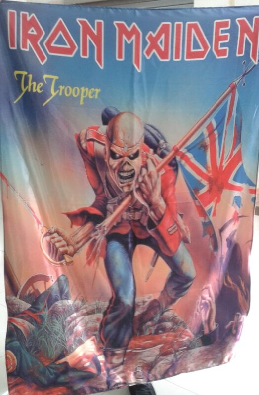 IRON MAIDEN The Trooper FLAG CLOTH POSTER WALL TAPESTRY BANNER CD Heavy Metal