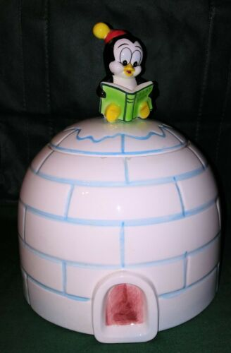 Chilly Willy Walter lantz ceramic Igloo Cookie jar very nice rare Napco
