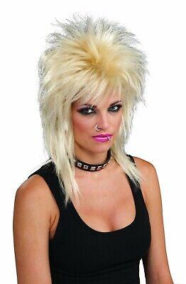 Forum Neuheiten Unisex Erwachsene Punk Rock Star Blonde Perücke Halloween - Punk Rock Star Kostüm