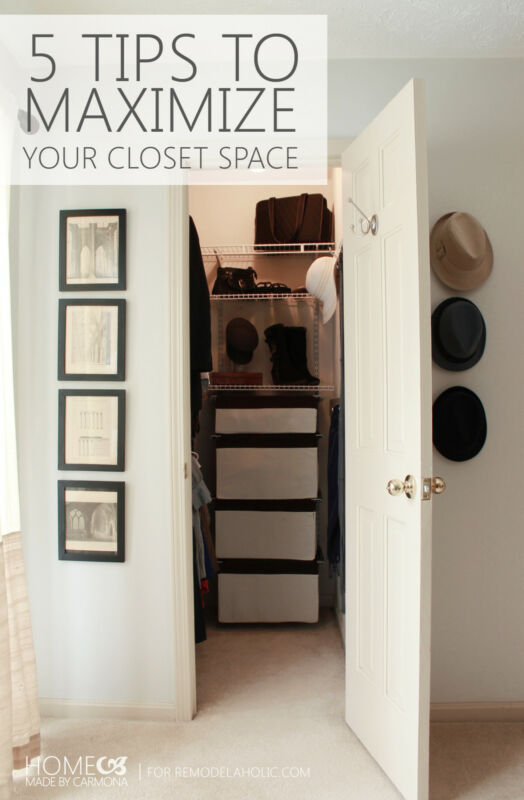Maximize your closet space 5 tips to make it work ebay for Maximize small closet