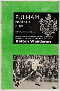 Fulham-v-Bolton-Wanderers-on-24-August-1968-Programme