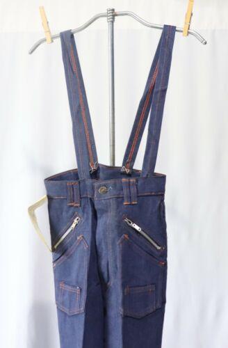 Vintage Girls Bell Bottoms Pants w Suspenders NWT sz 12 Dead Stock