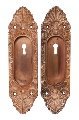 Pair of Branford Copper French Pocket Door Plates