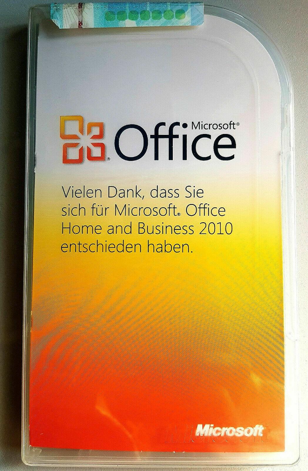 Microsoft Office Home and Business 2010, DE, eine legale, originale Lizenz