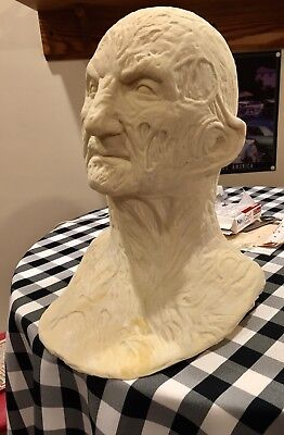 - Freddy Krueger Mask Bust Lifesize Halloween Myers Prop Mold Elm Street 3