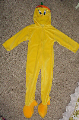 Warner Bros Looney Tunes Tweety Bird Halloween Costume Boy Girls Medium 1 Piece (Girl Bird Costume)