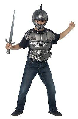 Bambino Medievale Kit Argento Costume Guerriero Accessorio